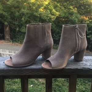 Toms Perforated Suede Booties